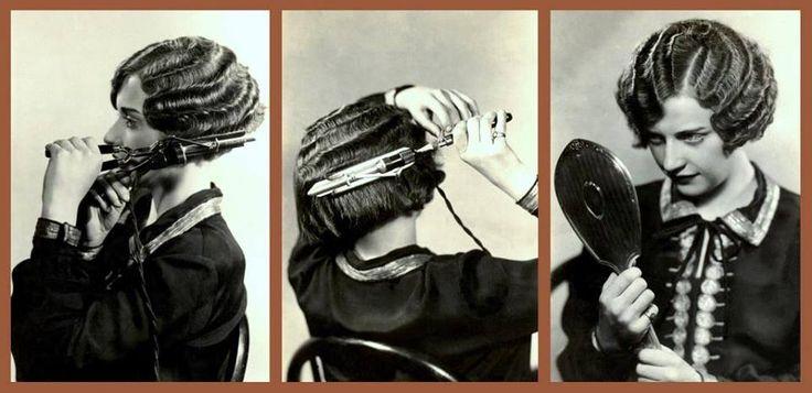 Как 1920-х годов Хлопушки девушки свернулась свои волосы