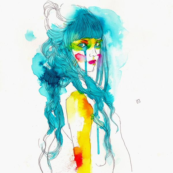 Love this tipe of illustration.  by Conrad Roset Muses