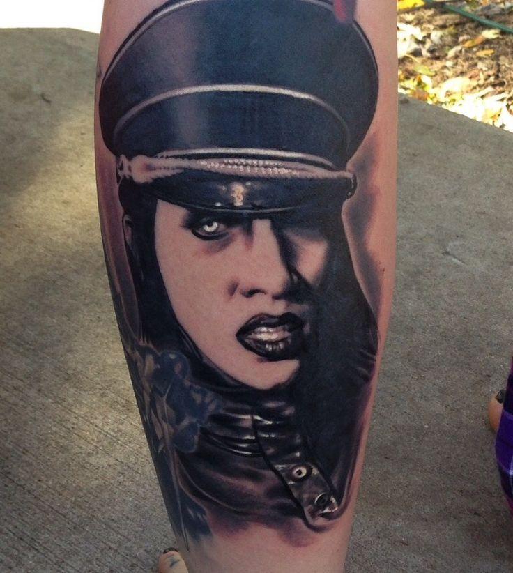 Marilyn Manson tattoo by Jesse Tranter