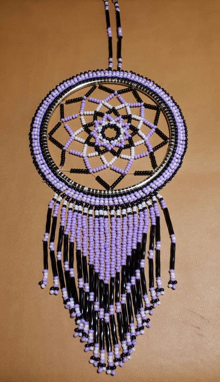 Beaded Purple Black Dream Catcher Dream Catcher Patterns