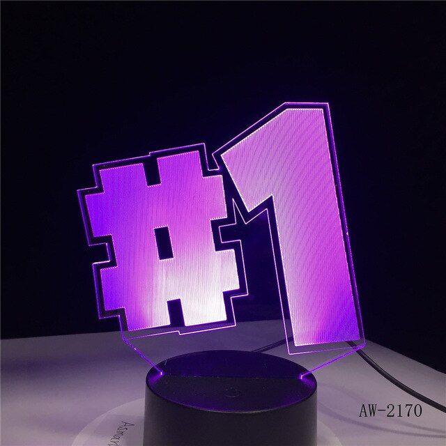 Table Light From The Famous Game Fortnite For You Player Light Table Desk Light 3d Led Lamp