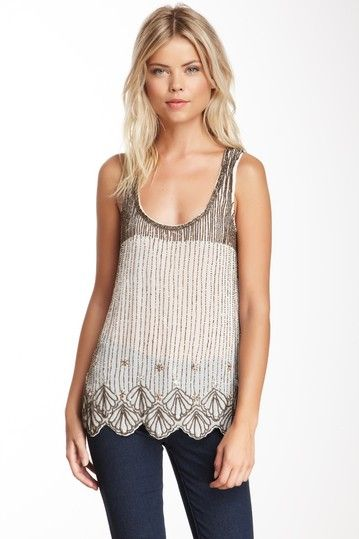 Sleeveless Sequin Top by Willow & Clay on @HauteLook