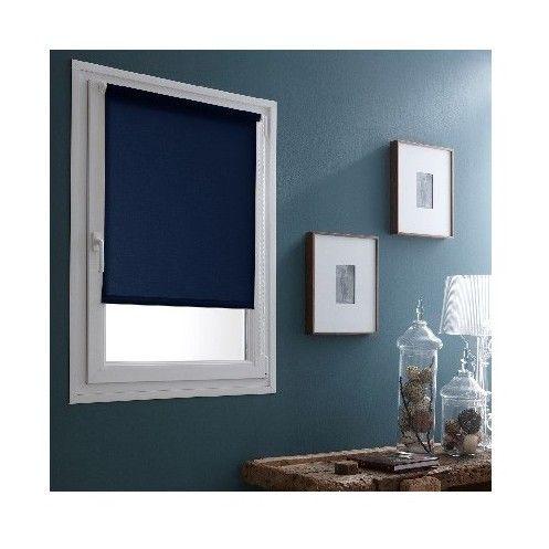 Store Enrouleur Occultant Bleu - sans percer ni visser - 7595032170 - Quincaillerie