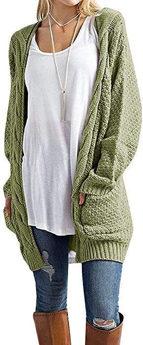 Inorin Womens Cardigan Sweaters Long Oversized Fall Knit Open Front