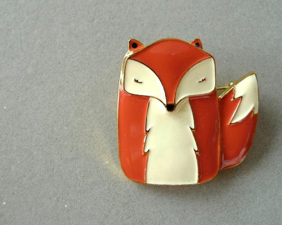 Mr Fox ENAMEL PIN by kushkush on Etsy