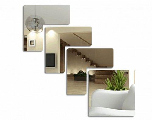 Dekoračné štvorcové zrkadlá na stenu