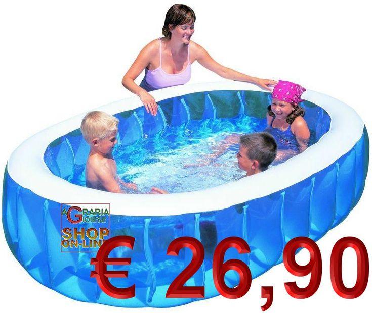 BESTWAY PISCINA GONFIABILE OVALE PER BAMBINI CM.234x152x51h. MOD. 54066 https://www.chiaradecaria.it/it/piscine-autoportanti/1636-bestway-piscina-gonfiabile-ovale-per-bambini-cm234x152x51h-mod-54066-6942138950656.html