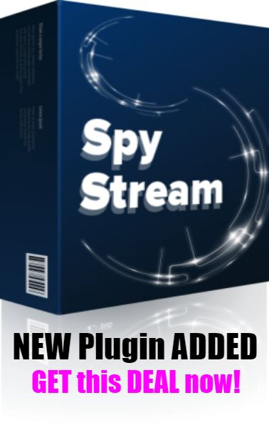SPY STREAM PRO [PLUGIN] added to our DEAL! - Spy Stream Pro can track on your customers' behaviors on your website.  You can find out customers' actual clicks, Live mouse movement, and much more! PRO version comes with 4 different plugins; you can track your visitors much deeper with PRO Versions.   Now, the price is the lowest. You should click BUY NOW to get this pro version before this sale removes. When the PRO version removes, you will need to purchase this version