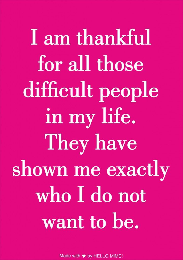 I am thankful for all those people… makes me think if a certain boss I have…