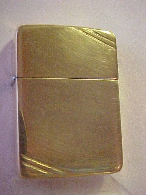 1940 Gold Zippo Lighter – Pre-World War II & 203 Patent - Extra Clean
