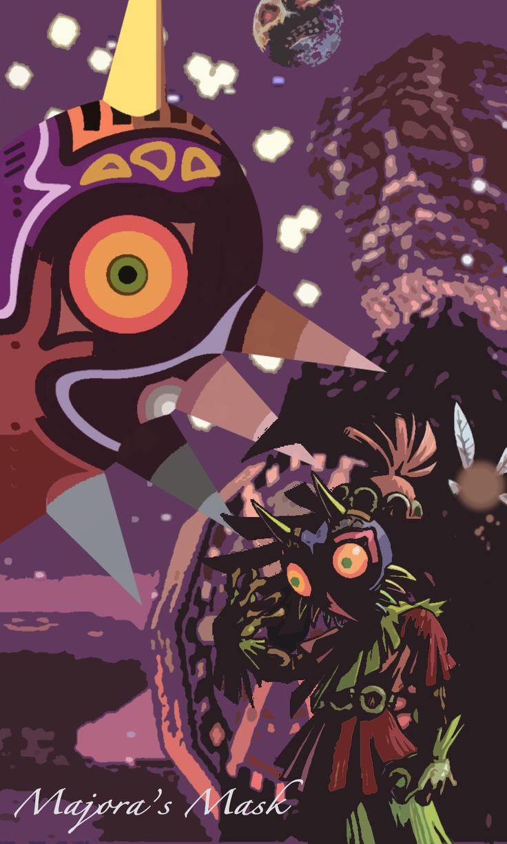 Zelda iphone wallpaper tumblr - The Legend Of Zelda Majora S Mask Artwork By Unknown Author