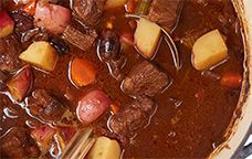 Chianti Marinated Beef Stew #giadaweekly