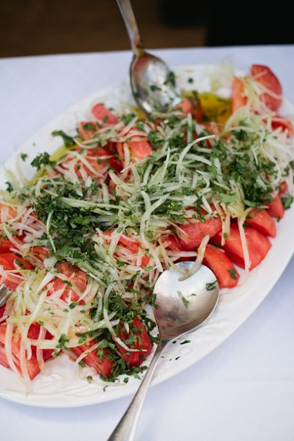 ensalada a la chilena (tomato-onion-cilantro-olive oil- salt and little bit of lemon)