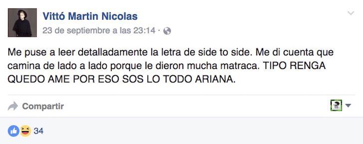La gente no puede creer de lo que realmente se trata la canción Side To Side de Ariana Grande