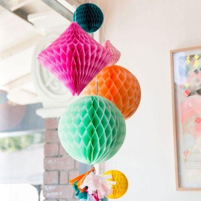 Μέντα Honeycomb ball-20cm-Unique | party alphabet