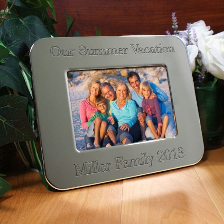 Personalized Engraved Vacation Silver Picture Frame - Gifts Happen Here