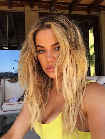 Khloe Kardashian's Tresemme sea salt spray, GDH hairdryer and Tresemme dry shampoo - click ahead for more beauty products the Kardashians use on Vacation