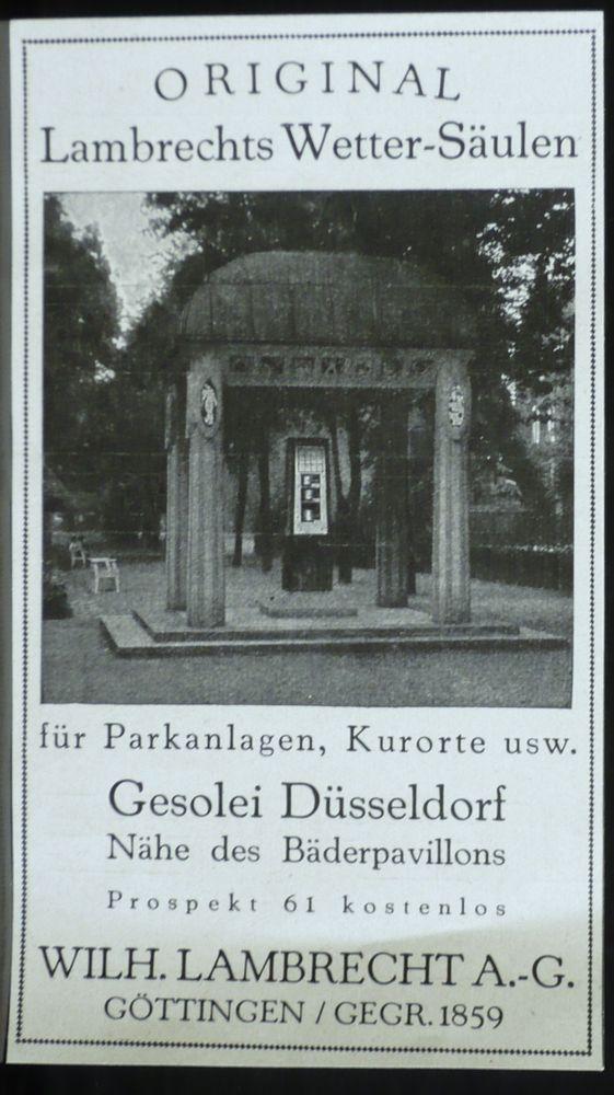 Wetter Säule für Parkanlage,Wilh. Lambrecht Göttingen