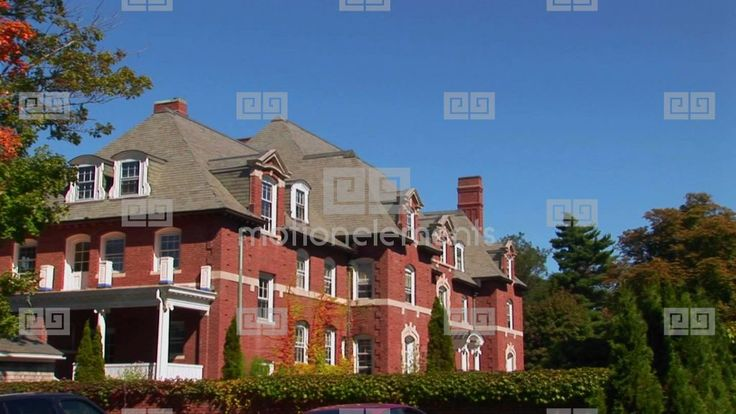 red brick mansions | A Red Brick Mansion In Bar Harbor, Maine Stock video ...