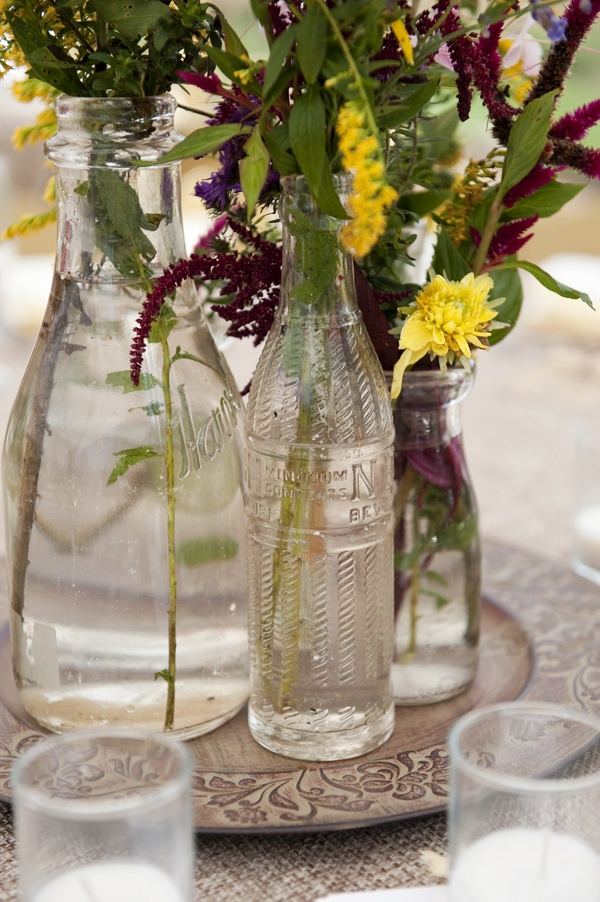 clear glass bottle centerpieces bottles jars