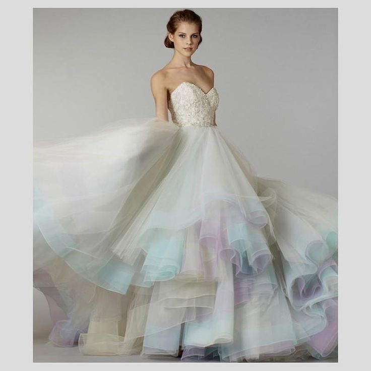 Rainbow Wedding Dress By Lazaro