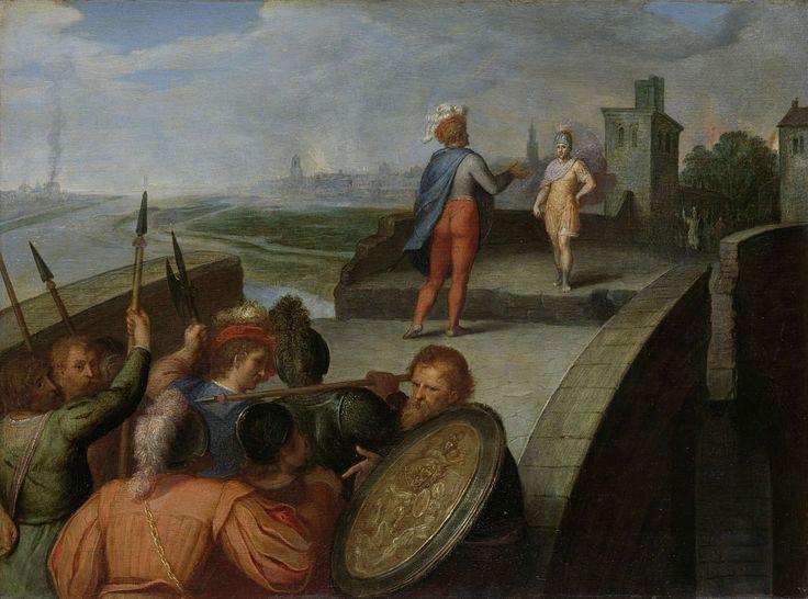 De vredesonderhandelingen tussen Claudius Civilis en de Romeinse aanvoerder Cerealis, Otto van Veen, 1600 - 1613
