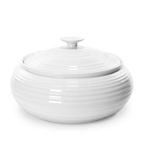 Sophie Conran by Portmeirion 6-Pint Casserole, White by Portmeirion. $44.99. 1 Casserole and Lid. Dishwasher and microwave safe. Strong and durable yet lightweight. Oven-to-table porcelain. The Sophie Conran Collection was designed exclusively for Portmeirion. This collection is as durable and functional as it is beautiful. Sophie is part of the world-famous Conran lifestyle and culinary dynasty. The simplistic and organic nature of this collection makes it perfect for ever...