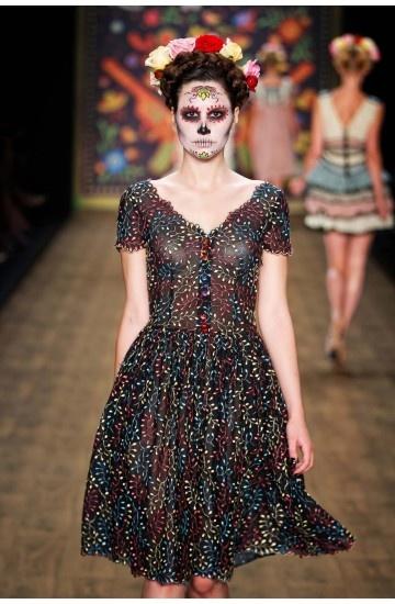 Lena Hoschek Spring Summer 2017 Collection Mercedes Dress Black Candy