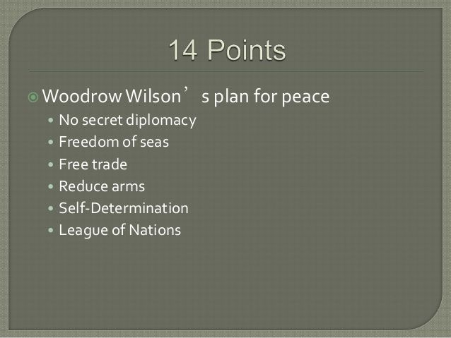 Wilson's 14 points and treaty of versailles by RCSDIT via slideshare