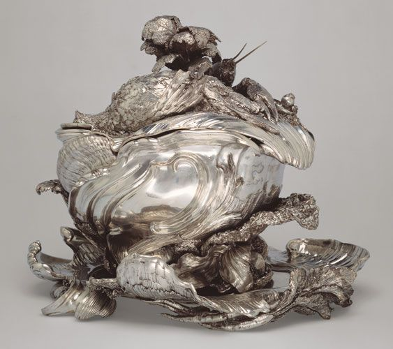 Rococo | Silver | Designed by Juste-Aurèle Meissonnier (French, 1695–1750) Made by Henri-Guillaume Adnet (French, 1638–1745) and François Bonnestrenne (French, 1682–after 1740)