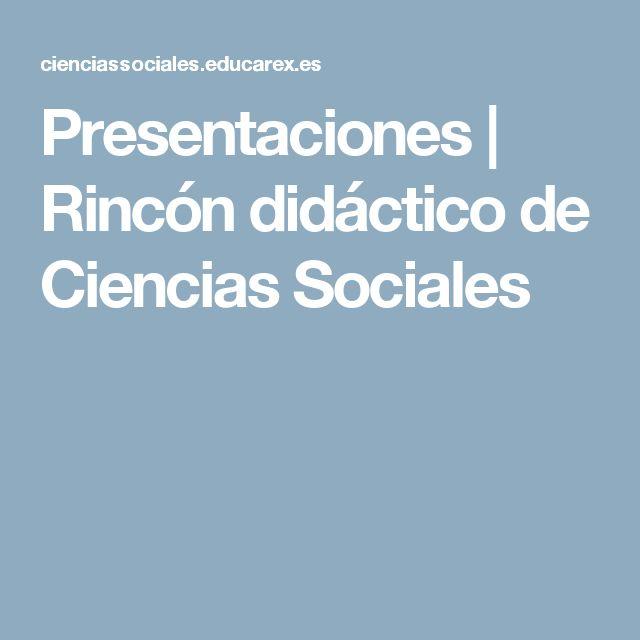 Presentaciones | Rincón didáctico de Ciencias Sociales