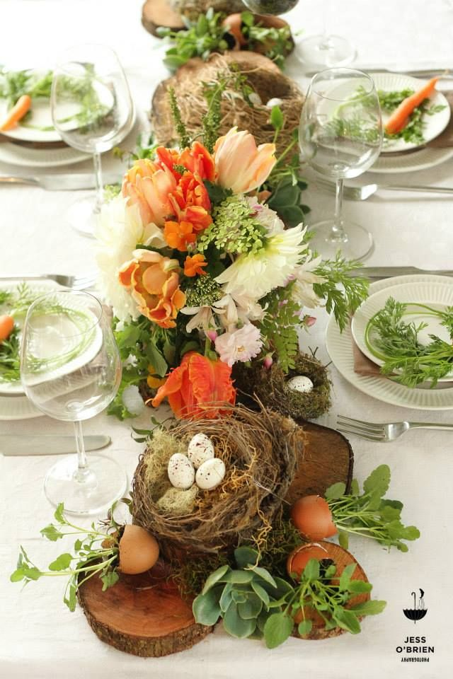 A beautiful Easter tablescape by Twig & Arrow and Jess O'Brien Photographer