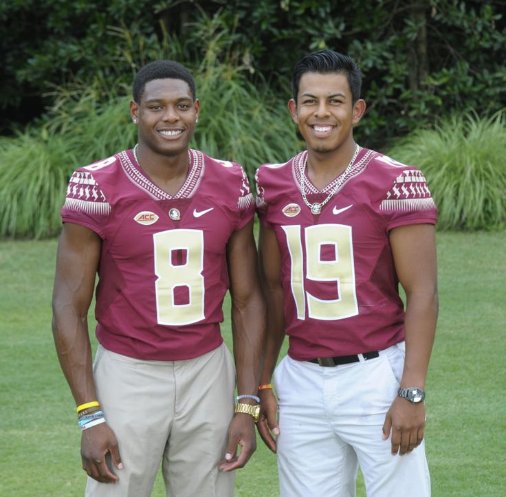 FSU was represented by two of their 2015 finest.    #8  Jr.  JALEN RAMSEY  -  Position - ENTIRE DEFENSIVE POSITIONS.  #19   Senior   ROBERTO AGUAYO  -  Position -   KICK-OFF SPECIALIST  &  FIELD GOAL KICKER.