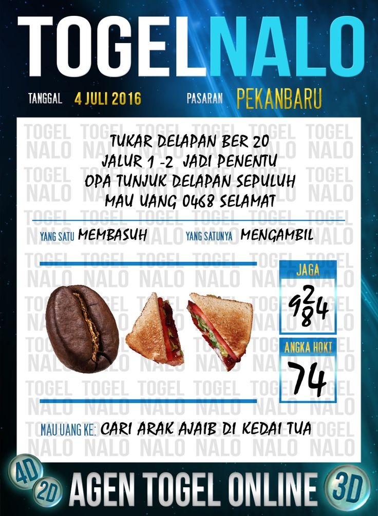 Prediksi Togel Online Live Draw 4D TogelNalo Pekanbaru 4 Juli 2016