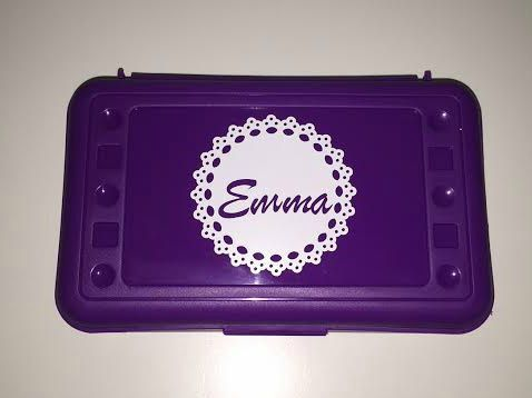 Personalized Pencil Box Found on etsy.com Very Cute!