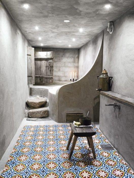 Baño de inspiración árabe.