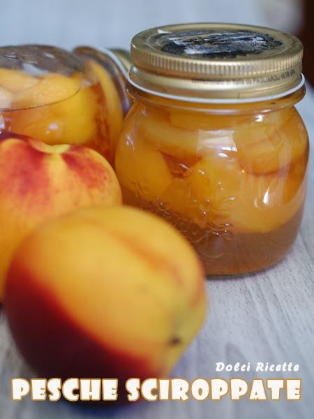 Pesche sciroppate - Peaches in syrup