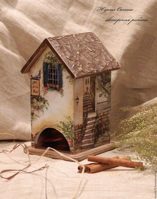 Домик для чайных пакетиков ` Уютный дворик`.Автор Юдина Оксана.