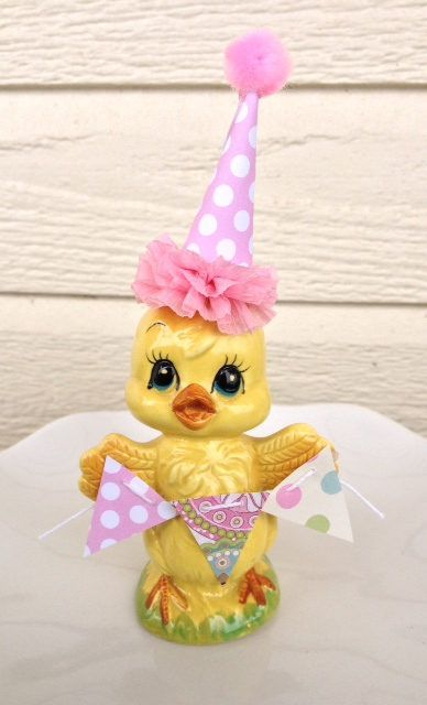 Easter Decoration Shabby Chic Vintage Enesco Chick by JeanKnee
