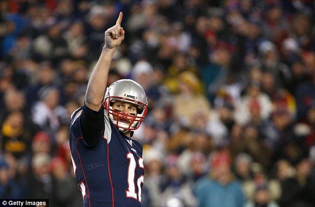 The New England Patriots will face Matt Ryan's Atlanta Falcons during the Super Bowl LI on February 9. Brady is pictured Sunday night
