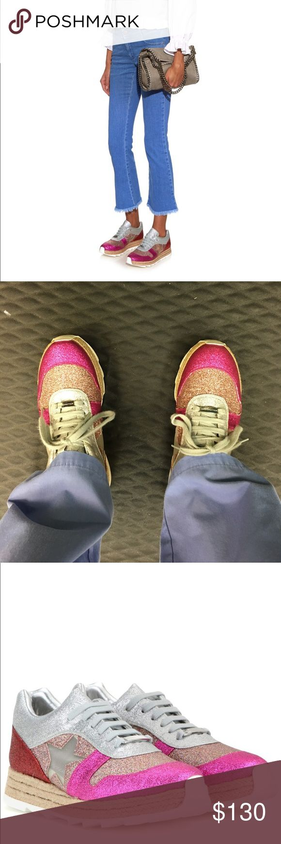 FINAL SALE 😎Stella McCartney Glitter Sneakers Reposhing because they're too tight on me !!! Grr I really love the look of these. In great condition, previous owner used a couple times. Stella McCartney Shoes