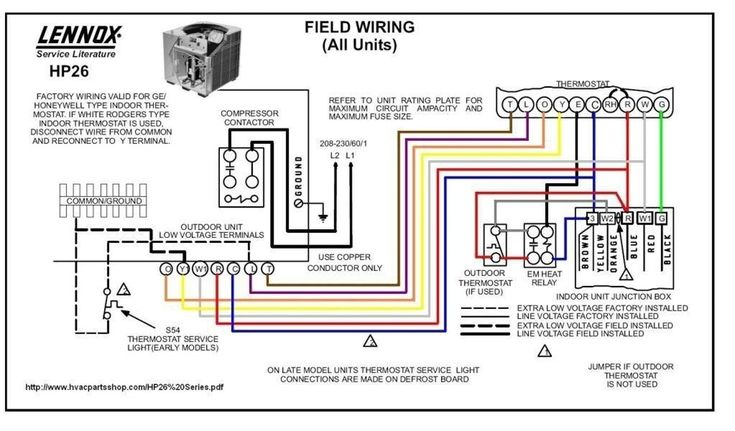 Wiring Diagram For Outdoor Thermostat, Lennox Thermostat Wiring Diagram Heat Pump