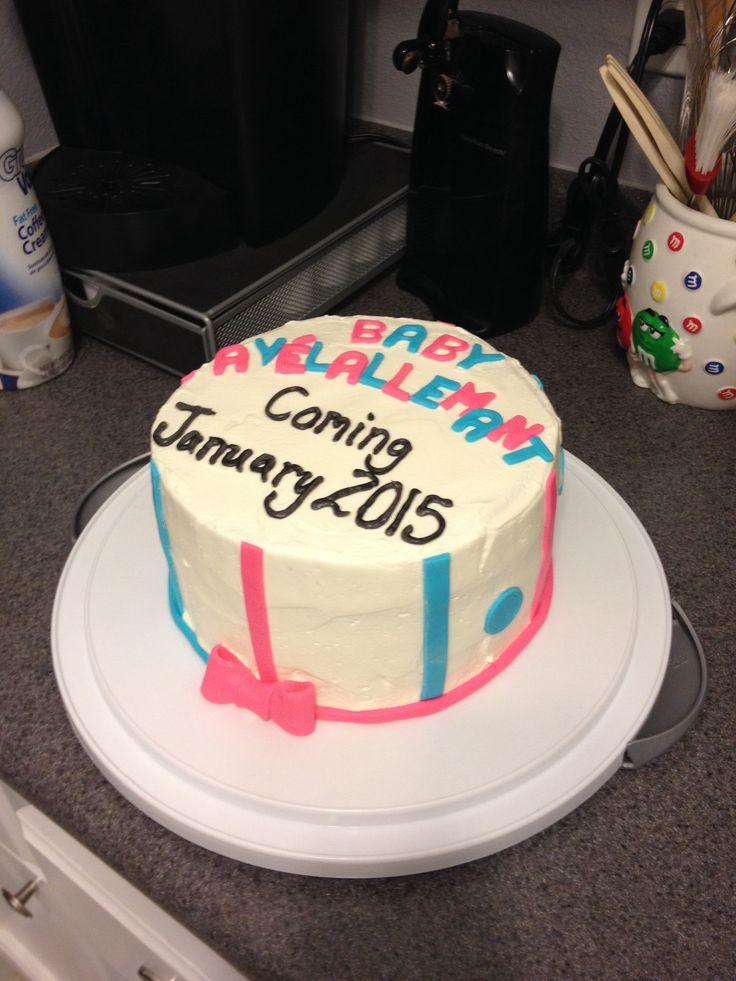 Pregnancy Announcement Cake