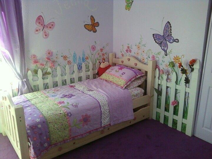 Garden theme girls room
