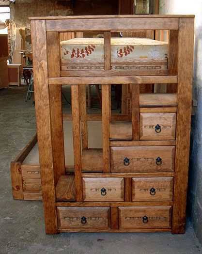 Plans For Bunk Beds With Storage Stairs Woodworking