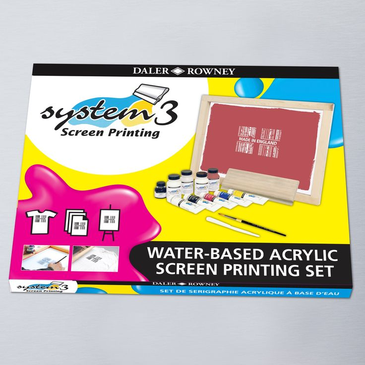 The System 3 Acrylic Screen Printing Set has everything you need to start screen printing at home, including instructions and tips. Available online and in store UK wide.