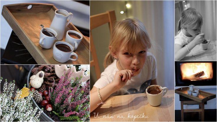 Milujeme horkou čokoládu.   Párkrát jsem si ji v kavárně objednala, ale nedopila, nebo spíš nedojedla.   Byl to vlastně hustý škrobovi...