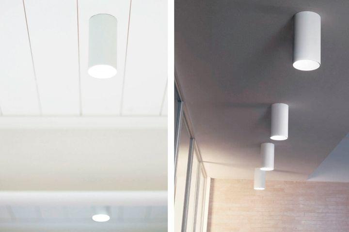 Накладыне светильники в интерьере