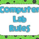 Here is a set of computer lab rules for an elementary school computer lab. There are 14 rules included so you can choose which ones you need and pr...