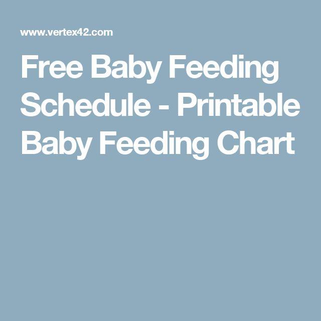 Free Baby Feeding Schedule - Printable Baby Feeding Chart